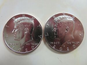 2020 P AND D KENNEDY HALF DOLLARS UNCIRCULATED FROM MINT BAGS/ROLLS