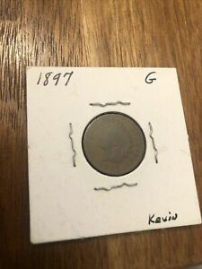 1897 INDIAN HEAD CENT PENNY GOOD
