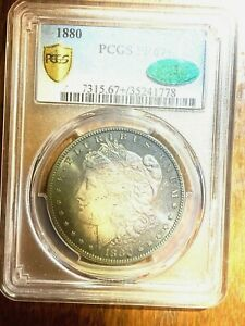 1880 PROOF MORGAN SILVER DOLLAR PCGS PF 67   THATS PLUS  MINTAGE ONLY 1355 WOW