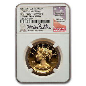 Click now to see the BUY IT NOW Price! 2017 W HR AMERICAN LIBERTY GOLD PF 70 UCAM NGC  CASTLE SIGNED    SKU234376