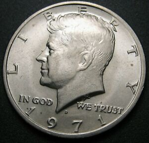 1971 D KENNEDY HALF DOLLAR WITH DOUBLING ON THE REVERSE   12 PHOTOS