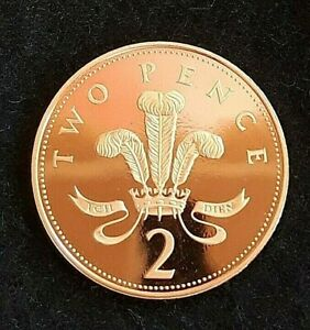 1992 GREAT BRITAIN ELIZABETH II  2P TWO PENCE PROOF COIN