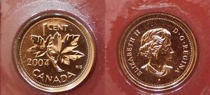 PROOF LIKE 2004P CANADA 1 CENT SEALED IN CELLO