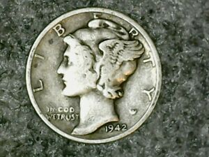 1942 D MERCURY DIME 10C   NICE OLD COIN   90  SILVER US DIME