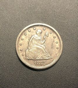 1875 S SAN FRANCISCO MINT TWENTY 20 CENT SILVER COIN EXACT COIN PICTURED