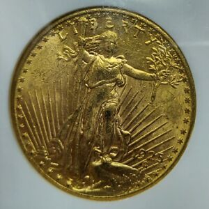 1925 $20 SAINT GAUDENS GOLD DOUBLE EAGLE MS 62 NGC OLD HOLDER