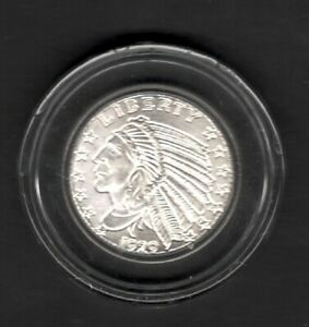 1929 INDIAN ONE TENTH TROY OZ .999 PURE SILVER COIN