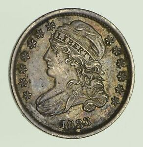 1833 CAPPED BUST DIME   CIRCULATED  0036