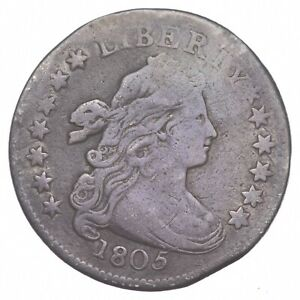 1805 DRAPED BUST DIME   CLIPPED  2522