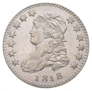 1818 CAPPED BUST QUARTER   CIRCULATED  0512