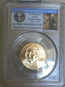 2007 D $1 ONE DOLLAR PCGS MS65 GEORGE WASHINGTON FIRST DAY OF ISSUE   POSITION B