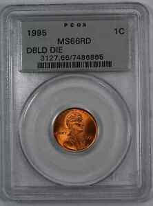 1995 DDO LINCOLN MEMORIAL CENT 1C PCGS MS 66 RED UNC   DOUBLED DIE OBV  865