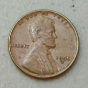 1955 D US WHEAT PENNY LINCOLN CENT FROM COIN COLLECTION SET