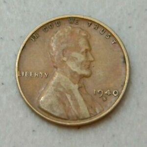 1940 S US WHEAT PENNY LINCOLN CENT FROM COIN COLLECTION 1940S FREE SHIP