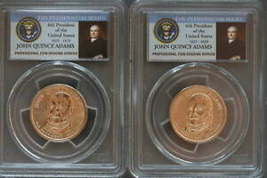 Click now to see the BUY IT NOW Price! 2008 P PCGS MS67 FDI JOHN QUINCY ADAMS DOLLAR PAIR A&B