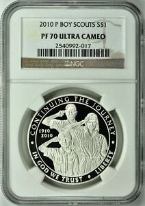 Click now to see the BUY IT NOW Price! 2010 P BOY SCOUTS SILVER PROOF S$1 NGC PF70 ULTRA CAMEO