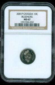 Click now to see the BUY IT NOW Price! 2001 P CANADA 10 CENTS NGC MS67 SOLO FINEST GRADED