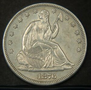 Click now to see the BUY IT NOW Price! 1876 S LIBERTY SEATED HALF DOLLAR  NICE UNC   B2348