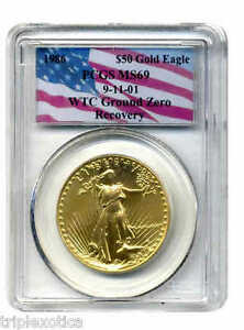 Click now to see the BUY IT NOW Price! 1986 PCGS MS69 WTC RECOVERY $50 GOLD EAGLE   VERY   ONLY ONE ON EBAY