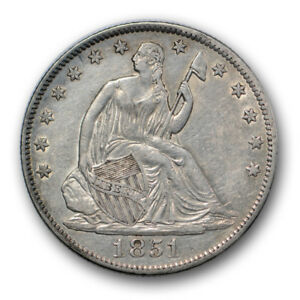 1851 O 50C LIBERTY SEATED HALF DOLLAR ABOUT UNCIRCULATED TO MINT STATE R311