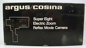 argus cosina super 8 electric zoom movie