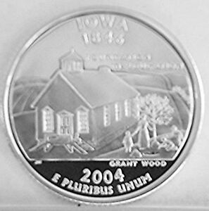 Click now to see the BUY IT NOW Price! 2004 IOWA SILVER PROOF STATE QUARTER ROLL  40