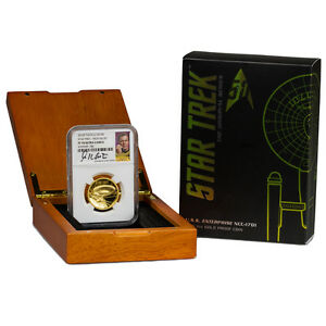 Click now to see the BUY IT NOW Price! 2016 P $100 1 OZ. HR GOLD STAR TREK ENTERPRISE NGC PF70 UC  SHATNER  SKU41932