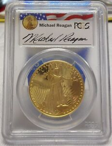 Click now to see the BUY IT NOW Price! 1986 W $50 GOLD EAGLE REAGAN LEGACY SERIES PCGS PR69DCAM LIMITED SERIES