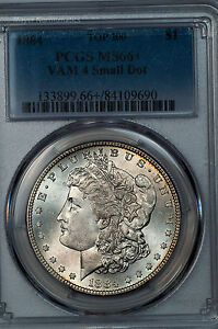 Click now to see the BUY IT NOW Price! 1884 MORGAN DOLLAR PCGS MS66  VAM 4 SMALL DOT TOP 100 VARIETY FINEST KNOWN GEM
