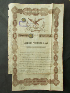 Click now to see the BUY IT NOW Price! MEXICO: 6  GOLD PESOS 20 000  REPUBLICA MEXICANA  1843       A.K.A. BLACK EAGLE