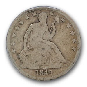 Click now to see the BUY IT NOW Price! 1844 O DOUBLED DATE  HALF DOLLAR LIBERTY SEATED PCGS G 4 GOOD 50C CAC APPROVED