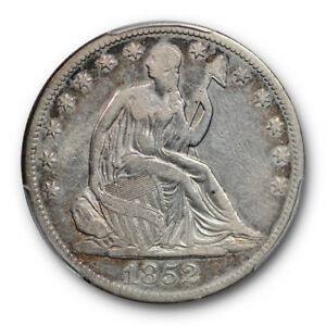 1852 O 50C LIBERTY SEATED HALF DOLLAR PCGS VF 20 FINE KEY DATE NEW ORLEANS