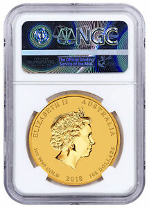 Click now to see the BUY IT NOW Price! 2018 P AUSTRALIA YEAR OF THE DOG 1 OZ GOLD LUNAR  S2  $100 NGC MS70 ER SKU50367