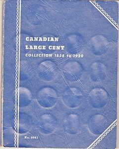 SET CANADIAN SMALL AND LARGE CENTS 1859   1969 KEYS INCLUDED  IN WHITMAN FOLDERS