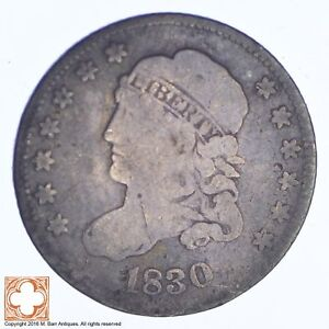 1830 CAPPED BUST HALF DIME  XB47