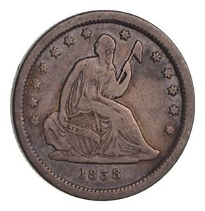 1838 SEATED LIBERTY QUARTER   CIRCULATED  1361