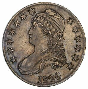 1826 CAPPED BUST HALF DOLLAR  CIRCULATED  2892
