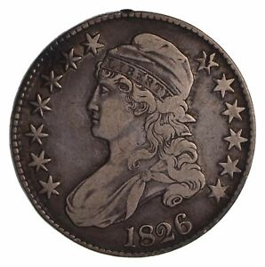 1826 CAPPED BUST HALF DOLLAR   CIRCULATED  1681