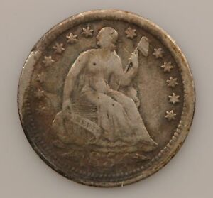 1854 LIBERTY SEATED HALF DIME ARROWS AT DATE  G64