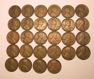 28 LINCOLN WHEAT CENTS 1930PDS 1931PD 1932D 1933 1934PD 1935 36 37 38 39 1940PDS
