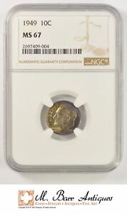 MS67 1949 ROOSEVELT DIME   GRADED NGC  1940