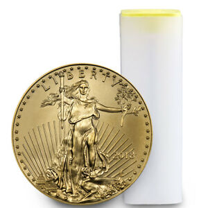 Click now to see the BUY IT NOW Price! ROLL OF 40   2018 1/2 OZ GOLD AMERICAN EAGLE $25 GEM BU COIN SKU50870