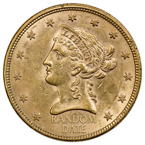 1866 1907 LIBERTY HEAD WITH MOTTO $10 GOLD EAGLES XF SKU36310
