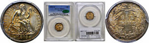 Click now to see the BUY IT NOW Price! 1873 S SEATED LIBERTY DIME PCGS MS 64  CAC ARROWS