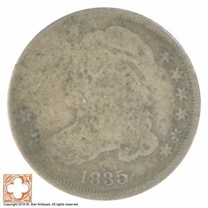 1835 CAPPED BUST DIME  XB99