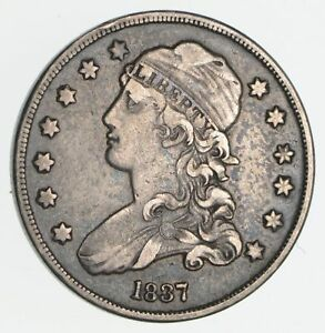 1837 CAPPED BUST QUARTER  CIRCULATED  2336