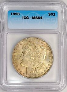 Click now to see the BUY IT NOW Price! 1896 P  ICG MS64  MORGAN DOLLAR  TONED  VAM 25