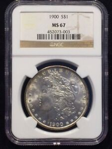 Click now to see the BUY IT NOW Price! 1900  $1 MORGAN SILVER DOLLAR NGC MS 67 TOP POP