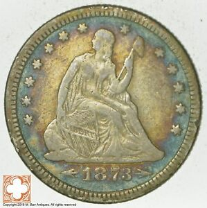 1873 SEATED LIBERTY SILVER QUARTER  5785
