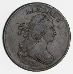 1804 DRAPED BUST HALF CENT  CIRCULATED  2337
